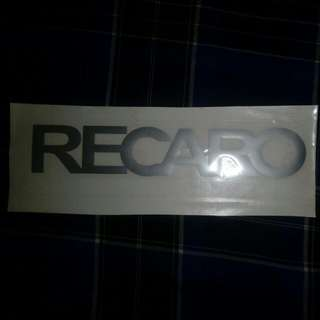 Recaro sticker
