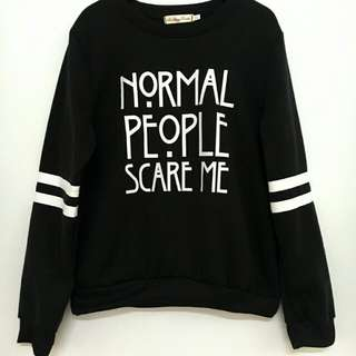 Black colour Sweater Unisex