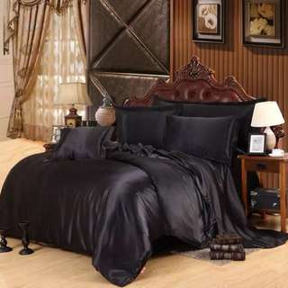 Satin silk bedsheet set with Duvet cover