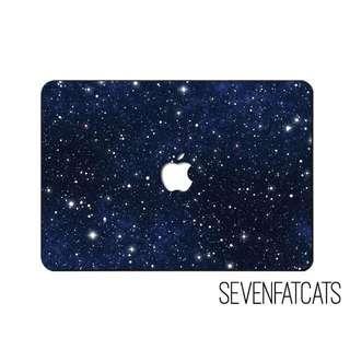 White Stars Macbook Cover