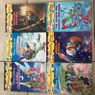 Geronimo Stilton Story Books and thea stilton