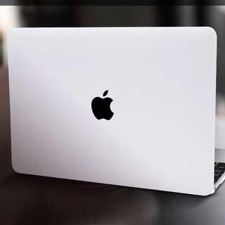 White Matte Macbook Cover