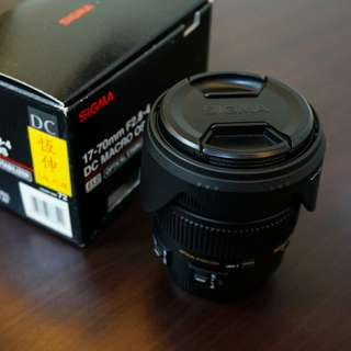 SIGMA 17-70mm f2.8-4 DC MACRO OS 鏡頭 for CANON 九成新 免運