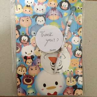 Tsum Tsum Notebook +free gifts