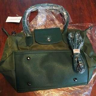 Longchamp Class A Green Sling Bag