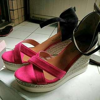 楔型涼鞋37號(儘試穿