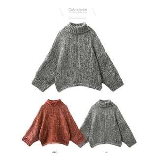 ▪高領毛衣-兩色可選