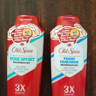Old spice body wash & deodorant