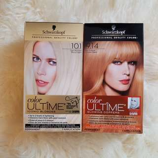 Schwarzkopf hair dye platinum blonde, orange