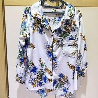 Pajamas Shirt / Kemeja Piyama Bunga