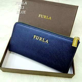 Furla Wallet Blue Color