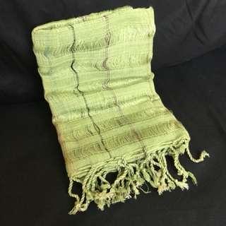 手作棉織圍巾
