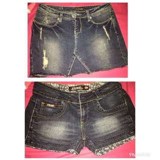 Short and skirt size 28 small to medium