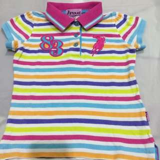 Polo t shirt for girls (size S 5-6)