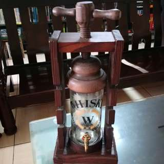歐式古典威士忌酒桶木架