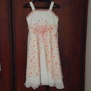 Beautiful Orange/White Girl Dress