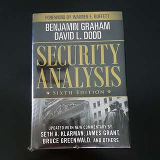Security Analysis Sixth Edition