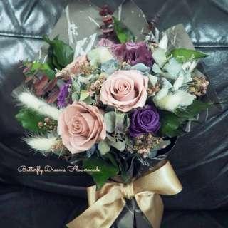 乾花.保鮮花 玫瑰花束