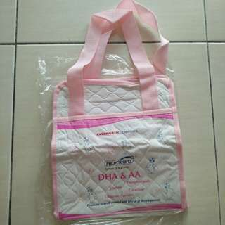 Pink baby items carry bag