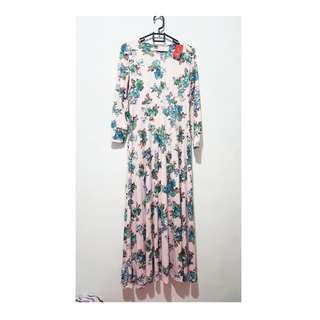Long Dress Pink Flowers