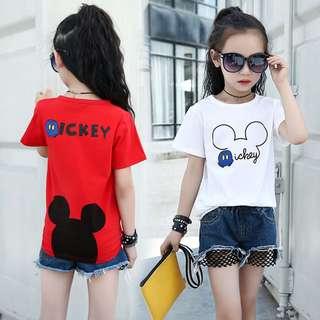 BMT323 - Girl Mickey Tee & Shorts 2 Piece Set *Cotton*