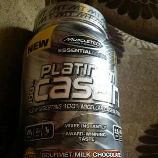 MuscleTech Platinum 100% Casein Slow Digesting 100% Micellar Casein Formula  Flavour : Gourmet Milk Chocolate   BN and SEALED Authentic