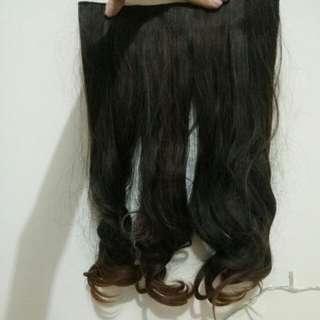 Hair clip brown