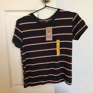 pull & bear rainbow striped shirt