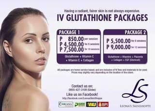 IV GLUTATHIONE PACKAGE
