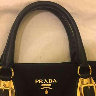 Two ways Prada handbag
