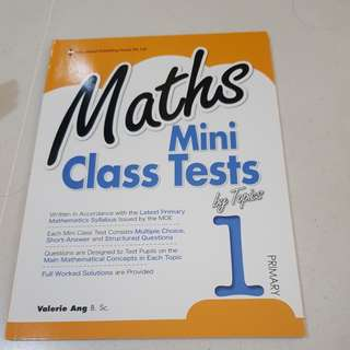 Maths mini class tests by topics primary 1