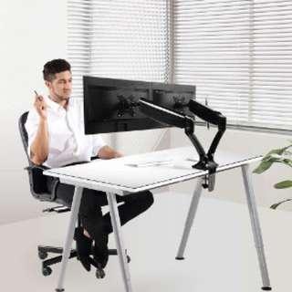 Loctek dual arms monitor stand