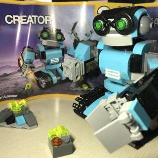 (澳洲二手) 樂高 31062 三合一 創作系列 探險機器人 二手銷售 無盒 郵局含運