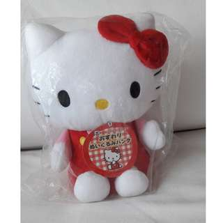 Sanrio original hello kitty savings coin bank plush