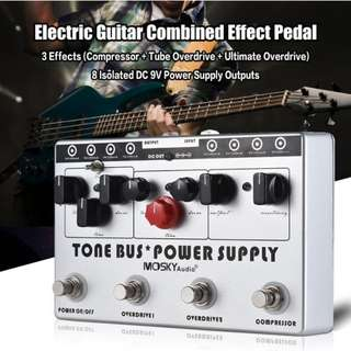 MoSky Tone Bus Power Supply Compressor, Tube Overdrive & Ultimate Overdrive