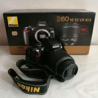 DSLR camera Nikon D60 18-55 VR kit lens