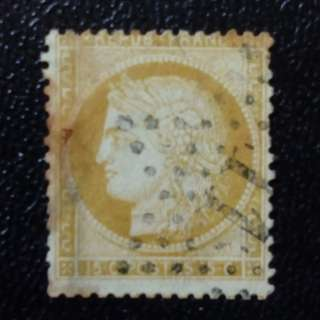 [lapyip1230] 法國 1848年 郵傳女神 拾伍仙 古董郵票 (蓋星形11號郵印) VFU