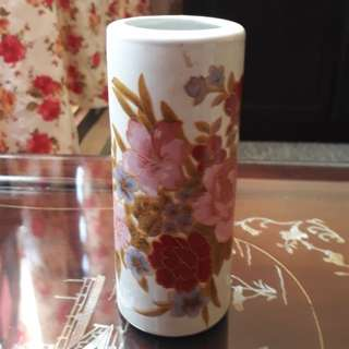 vintage rose brush cup