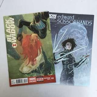 Black widow & Edward scissorhands comic