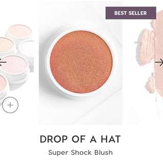 {bn} colourpop super shock blush in drop of a hat