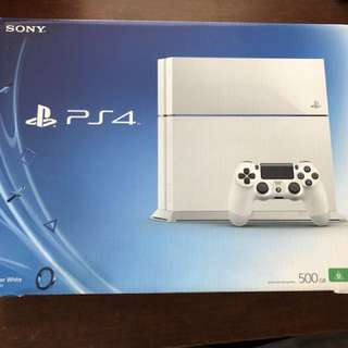PS4 Console 500Gb White with Camera and Camera clip stand