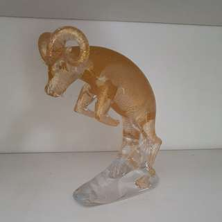 Crystal Gold Goat display