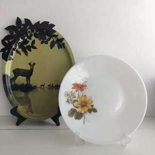 "Pyrex JAJ ""Autumn Glory"" Dinner Plate - Free for adoption"