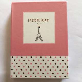 Mini Korean Diary with Pen & Post it