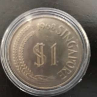 SELLING 4pcs of Singapore 1986 Merlion S$ 1 Coin