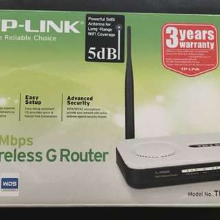 TP-Link 54Mbps wireless G Router