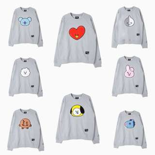 [MYGO] BT21 Face Graphic Sweater