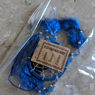 Indian dream catcher dark blue 9cm small