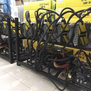 Zotac 1070ti Mini Mining Rig 6 GPU