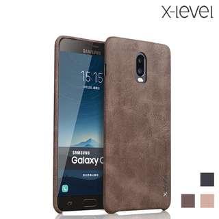 Galaxy C8 SM-C7100 X-Level by PIPILU 復古皮紋保護殼 商務斯文手機殼GSA3978A